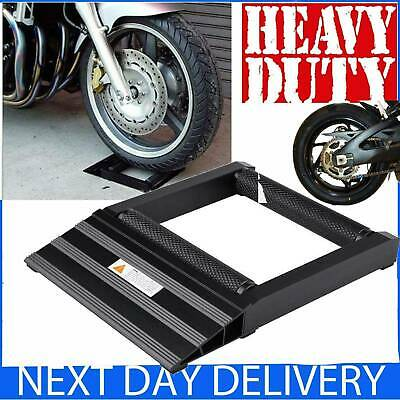 Heavy Duty Motorcycle Cruiser Sport Bike Wheel Chain Cleaning Roller Stand Lift • 24.69£