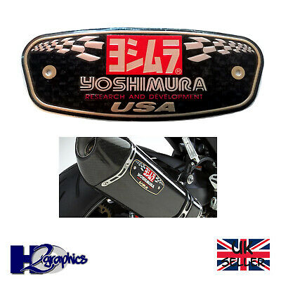 Yoshimura 3D Motorcycle Exhaust Sticker Heat Resistant Aluminium 131 X 50 Decal  • 3.65£