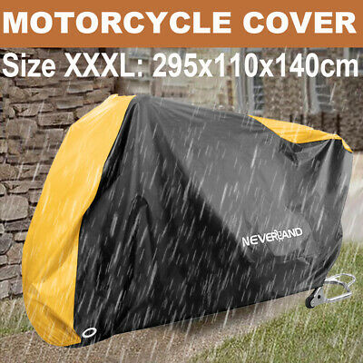 XXXL Universal Waterproof Motorcycle Cover Motorbike Breathable Vented Protector • 15.79£