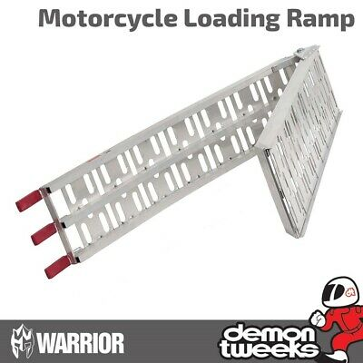 1 X Warrior Premium Aluminium Motorcycle / Bike / Motorbike / MX Loading Ramp • 47.95£