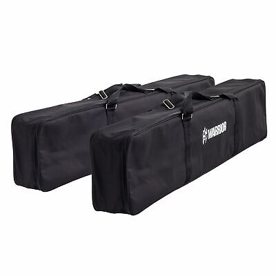 2 X Warrior Motorcycle Loading Ramp Full Length Padded Black Storage/Carry Bags • 41.28£