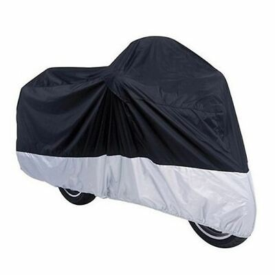 Motorcycle Waterproof Outdoor Protective Motorbike Moped Rain Bike Cover Sheet • 9.49£
