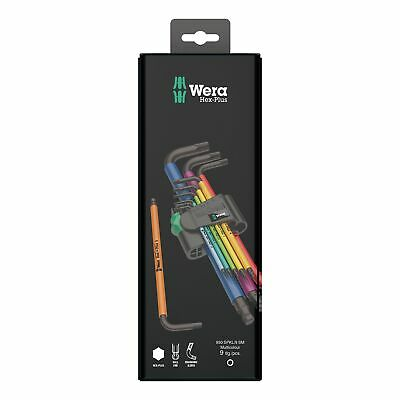 Wera Hex Allen Allan Key Set Multi Colour L Key 9pc 1.5-10mm - 073593 • 26.46£
