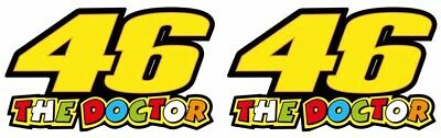 46 THE DOCTOR Valentino Rossi Vinyl Sticker Decals 75 X 45 Mm Set Of 2 • 1.99£