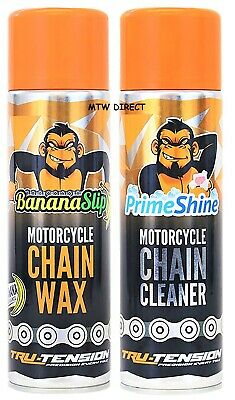 CHAIN MONKEY MOTORCYCLE CHAIN CARE KIT  | PTFE CHAIN WAX & CHAIN CLEANER 500mls  • 20.88£