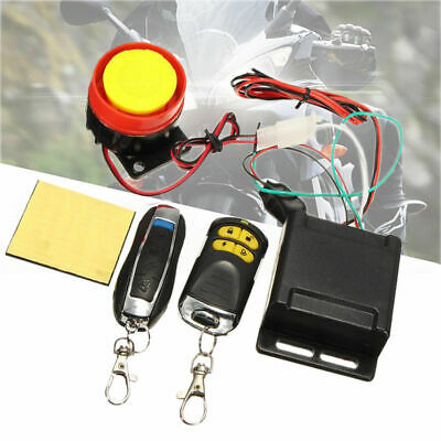 Anti-theft Motorcycle Motorbike Alarm System Immobiliser Security Remote Control • 8.99£