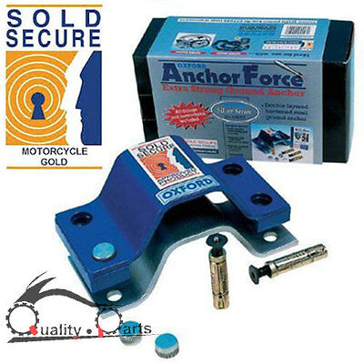 Oxford Sold Secure Gold Motorbike Motorcycle Ground Anchor Force Lock Point • 51.99£