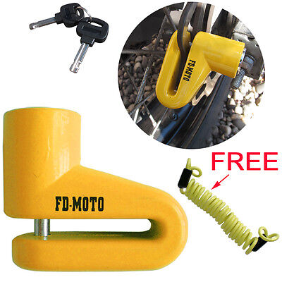 FD-MOTO Scooter Bike Motorcycle Motorbike Disc Lock Security Cycle Cable 150cm • 9.45£
