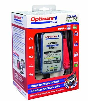 Optimate 1 Duo Motorcycle Battery Charger Optimiser Latest Version Lithium Gel • 36.39£