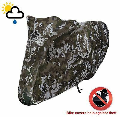 Universal Oxford Motorcycle Cover Waterproof Camouflage Camo Medium CV212 • 23.89£