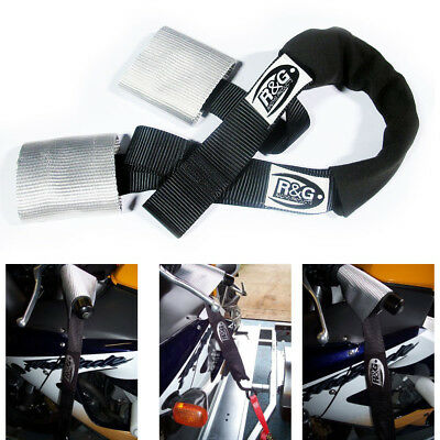 R&G Racing Motorcycle Motorbike Handlebar Bar Tie Down Top Strap System • 15.95£