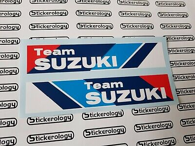 2 X Team Suzuki Stickers Handed For Left And Right Sides Smaller Size • 4£