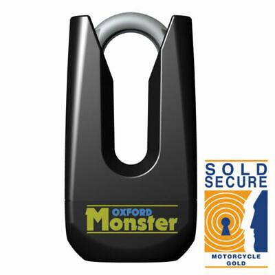 OXFORD OF32M Security Monster Ultra Strong Motorcycle Motorbike Black Disc Lock • 45.95£