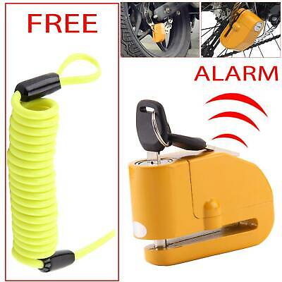 Alarm Motorbike Disc Lock Brake Scooter Motorcycle Cycle Security • 10.79£