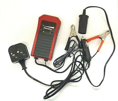 ABSAAR 6V / 12V 0.75A (1A) Automatic Smart Maintenance Trickle Battery Charger • 15.99£