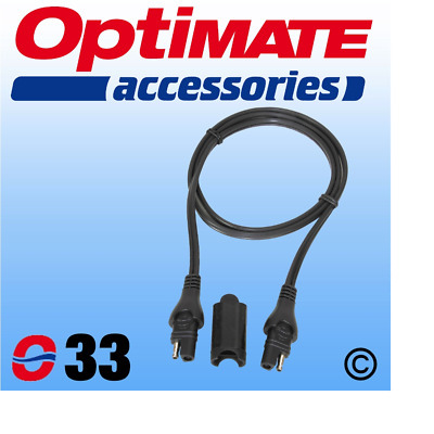 Optimate O33 SAE Extension Lead - 1m 100cm Weatherproof Plug Connector • 10.99£