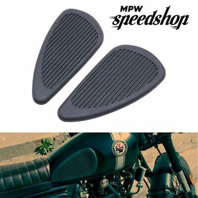 Motorcycle Rubber Fuel Tank Traction Knee Grip Anti-Slip Pads - Black • 14.95£