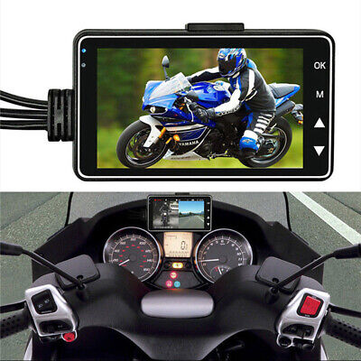 Motorbike DVR 3  LCD+120°Dual Waterproof Camera Support Video Sync Recording • 35.69£