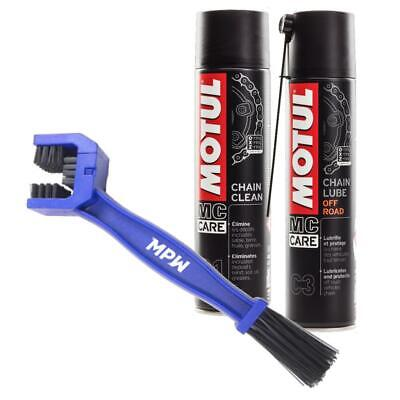 Motul Chain Care Cleaning / Cleaner Lube + Brush For Off Road Motorcycle • 17.99£
