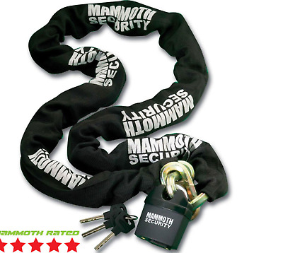 Mammoth 12mm Heavy Duty Hexagon Lock/chain 1.8m Motocross Mx Motorcycle Scooter • 25£