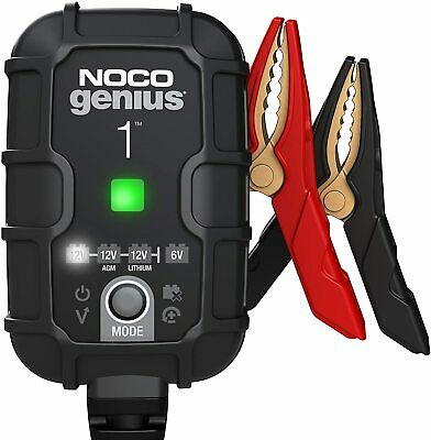 Noco Genius 1 UK  Motorcycle Battery Charger 6V 12v 1A Acid Gel Lithium • 44.95£