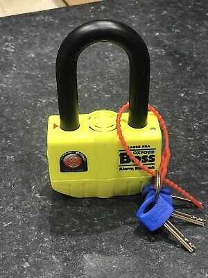 Oxford Boss Alarm Disk Lock  - Yellow • 30£
