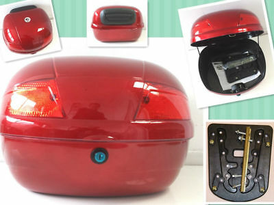 Universal TopBox, 0707/0811-Red-Motorcycle, Bike, Trike, Quad, Moped, Scooter • 24.95£