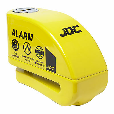 JDC MOTORCYCLE Motorbike Disc Lock ALARM - JAWS - Yellow  • 19.99£