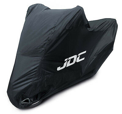 JDC Waterproof Motorcycle Cover Motorbike Breathable Vented Black - RAIN - XXL • 25.99£