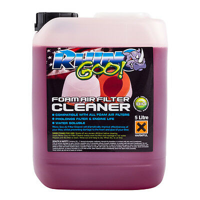 Rhino Goo Foam Air Filter Cleaner - 5 Litres MX Biodegradable Air Filter Cleaner • 24.64£