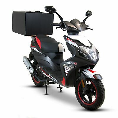 Food Delivery Takeaway Pizza Deliveroo Top Box + Wood For Motorcycle & Scooter • 34£