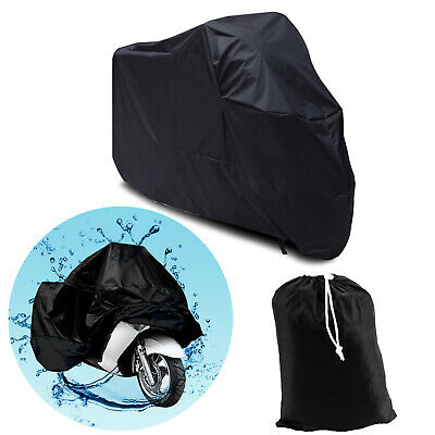 Black Waterproof Motorcycle Motorbike Dust Rain Sun Cover Large Also For 3 Bikes • 10.99£