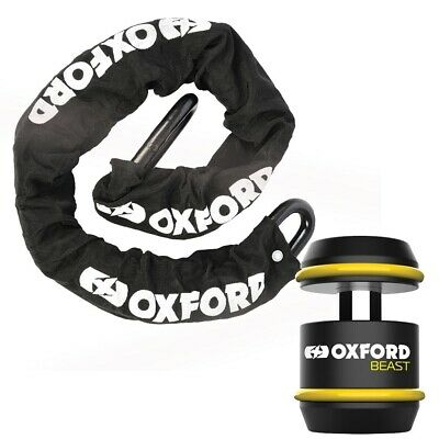 Oxford Motorcycle Security Beast 22mm 1.5m Sold Secure Diamond Chain & Lock Bund • 250£