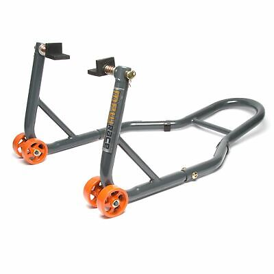 MPW Race Dept - Motorcycle Rear Padock Stand With L-Adapters In Grey/Orange • 31.99£