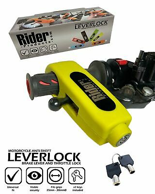 LAVERDA RGS1000 Rider Products RP52 Motorcycle Brake Lever Throttle Lock Yellow • 24.95£