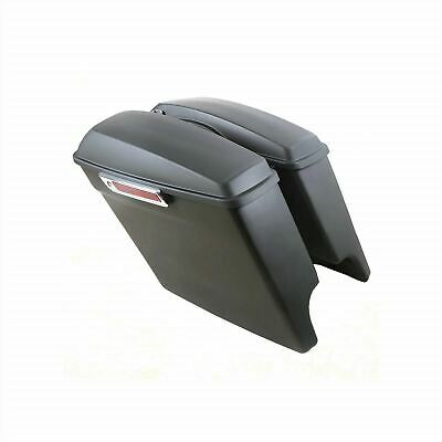 Black 5' Extended Stretched Panniers Harley-Davidson FLTRX Road Glide 15-18 • 289.96£
