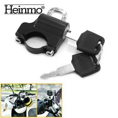 Motorcycle Universal Anti-theft Helmet Lock Security For 7/8'' 22mm Handlebar • 7.59£