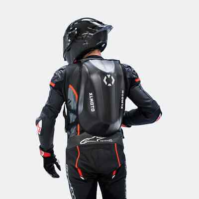 24L XLMOTO Slipstream Waterproof Motorcycle Backpack Bag Hardshell Carbon Style • 41.99£