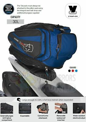 BMW S1000R T30R 30L Pillion Seat Tailpack Bag Luggage Motorcycle Blue • 79.95£