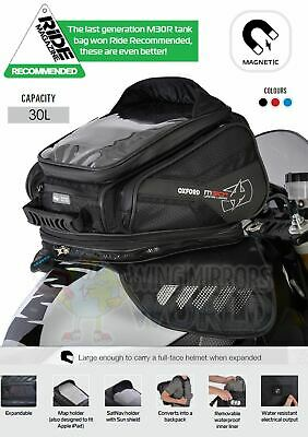 KAWASAKI ER-6F Oxford Magnetic Luggage Tank Bag 30L Sat Nav Black OL245 • 96.95£