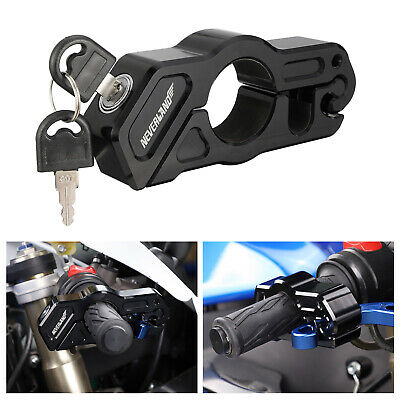 1 Set Motorcycle Handlebar Grip Brake Lever Security Caps-Lock Anti Theft Black • 17.99£
