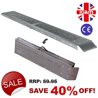 TWO Folding RAMPS 1.8m Steel MOBILITY SCOOTER WHEELCHAIR RAMP • 99.95£