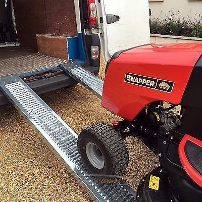 PAIR Steel Ramps 1.85m 400kg LAWNMOWER RIDE ON SCOOTER ACCESS RAMPS • 59.99£