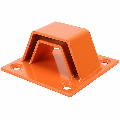 Orange Two Layer Bolt Down Ground/wall Anchor In/out Door Security Bike Lock • 21.99£