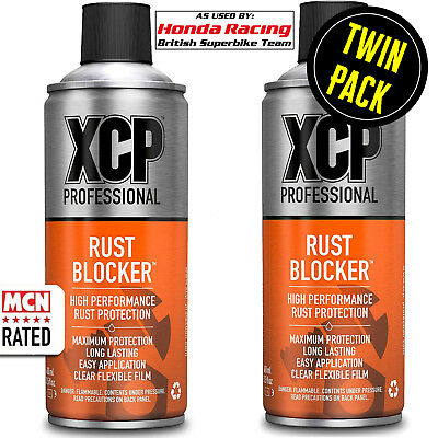 Motorcycle XCP Rust Blocker Corrosion Protection Spray High Performance 2x 400ml • 29.99£
