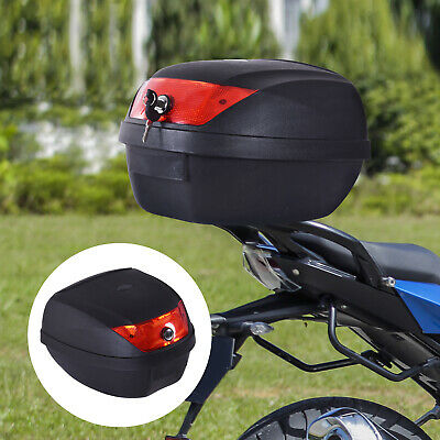28L Motorcycle Tail Box Helmet Top Case Storage Trunk Carrier Mount Rack • 23.99£