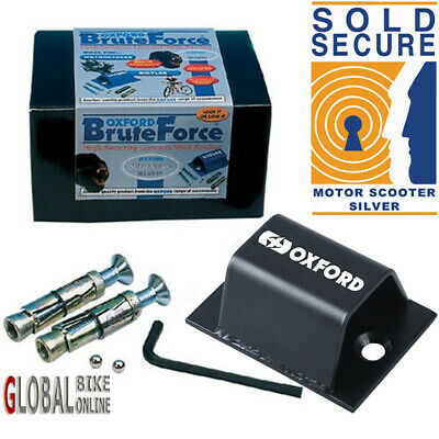 Oxford Brute Force Scooter Motorcycle Ground Wall Anchor SOLD SECURE LK397 • 17.29£