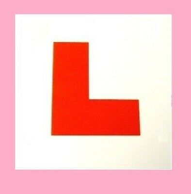 Self Adhesive L PLATE For Car Or Motorcycle • 1.65£