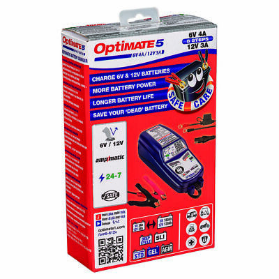 OptiMate 5 Ampmatic AGM STD GEL 6V 12V Motorcycle Battery Charger Optimiser • 73.90£