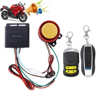 Winomo 12v Motorcycle Motorbike Anti Theft Security Alarm Warning Sensor System • 10.95£